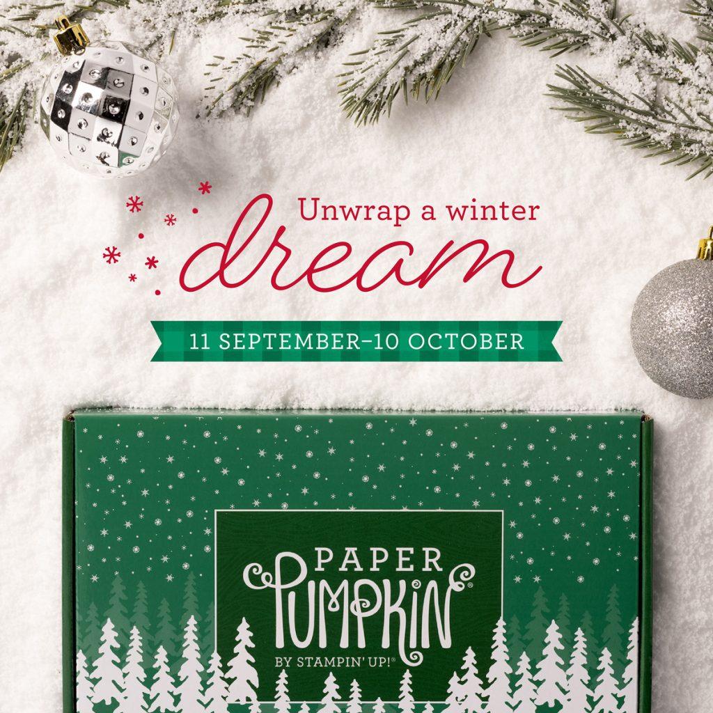 Unwrap a Winter Dream September paper pumkin